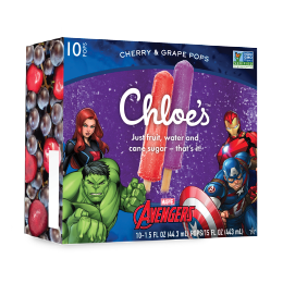 Chloe's Avengers Cherry & Grape Pops
