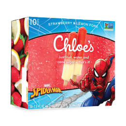 Chloe's Spider-Man Strawberry & Lemon Stacked Pops
